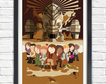 Firefly - Serenity - All Characters - All cast - Joss Whedon - 17x11 Poster