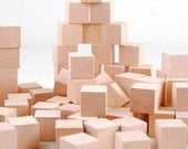 Super Bargain 50pcs Wooden Block  - DIY Unfinished Wood Block 2 x 2 x 2 cm ( Choking Hazard, Not good to use as baby Toy)