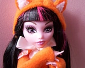 Monster High Doll Costume - Foxy Lolita Coat With Fox Ears And Tail