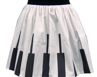 Abstract Piano Keys Full Skirt