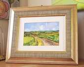 Sold Subject to Contract  31-05-15 Framed Original Landscape Painting  Frame 10 inches x 12 inches