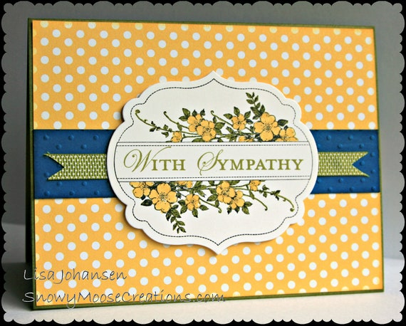 Polka Dot With Sympathy Card