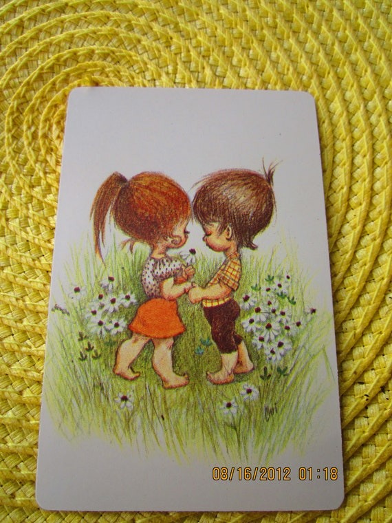 Vintage Holly Hobby Playing Cards: RESERVED for Anna