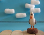 Hand Made, Polymer Clay, Seagull figurine