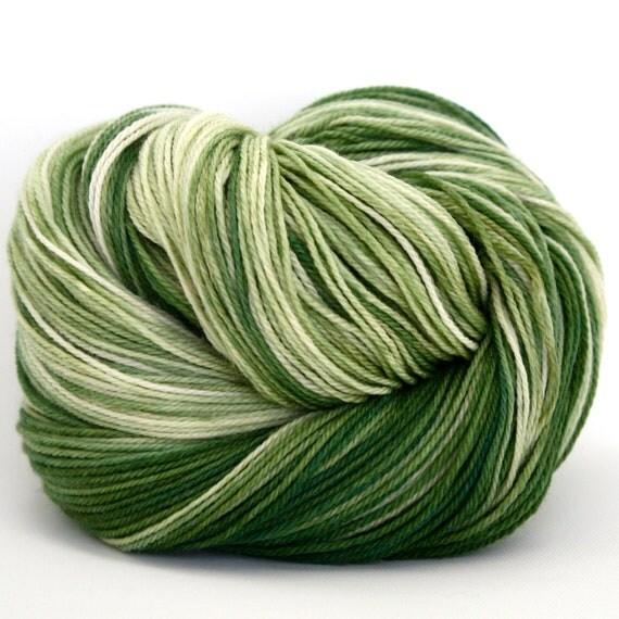 Hand Dyed Superwash Merino Cashmere Nylon Fingering/Sock Yarn - Lawn