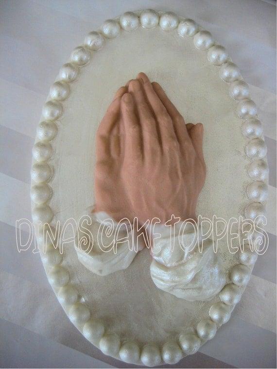 Praying Hands Cake Topper
