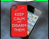 iPhone 4 Case - Harry Potter Keep Calm and Disarm Them New Plastic Fitted Case For iPhone 4 & iPhone 4S