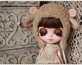 Light Brown Sheep hat For Blythe