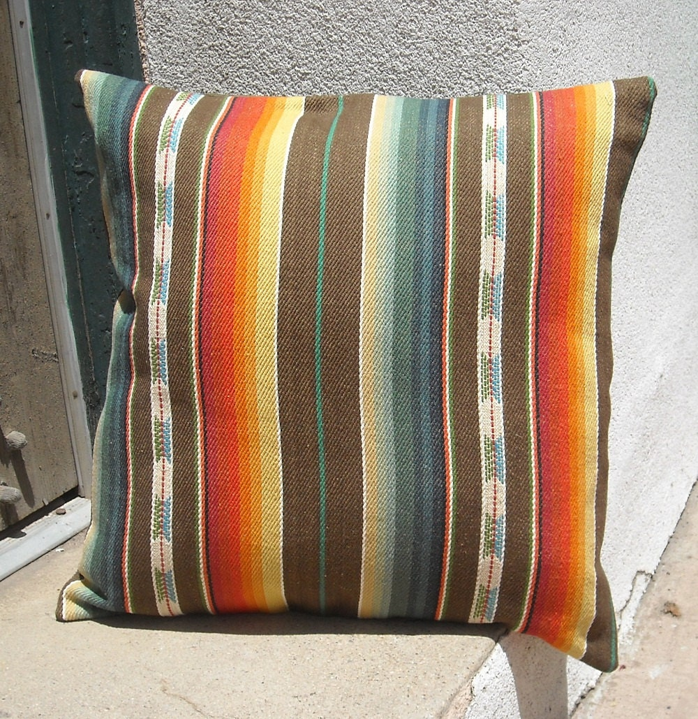 Southwestern Pillow Covers : Southwestern Pillow Cover 18 x 18 custom sizes