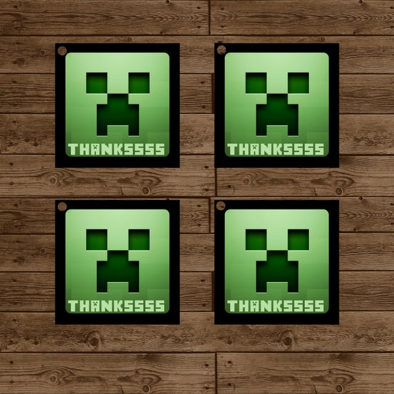 Items Similar To MINECRAFT Creeper Favor Tags
