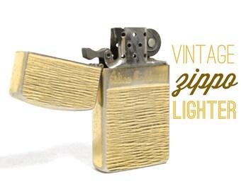 Vintage ZIPPO Brass Personalized Cigarette Lighter 1960's