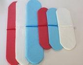 6 Tissue Paper Pom Poms /Red White and Light Blue / Boys First Birthday / Baby Shower