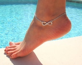 Infinity Anklet with Rhinestone Crystal