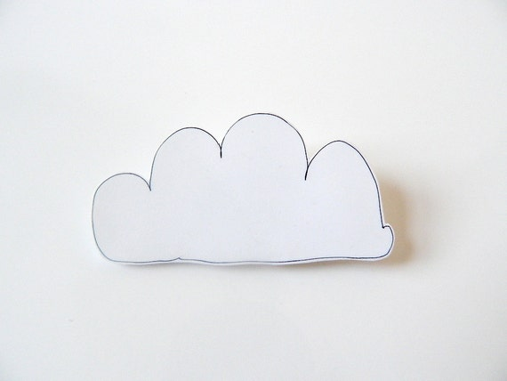 Shrink Plastic Brooch // Cloud // Kumo