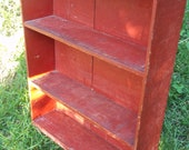 Antique Primitive Red Farm Shelf