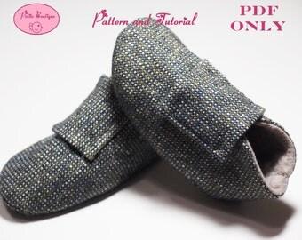 Baby shoe pattern - Vintage Tweed Shoes