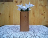 Special Listing For Christyn, Wood Vase Centerpiece, Decorative Centerpiece,Table Center Piece, Rustic Wood Box
