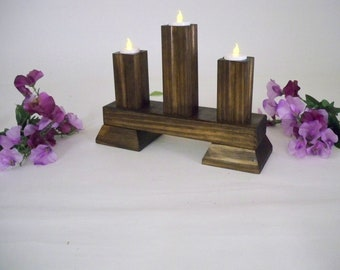 Candle Holder, Wood Candle Holder, Tea Candle Holder, Candle Center Piece, Tea Lights, Candle Stands, Wedding Candle holders