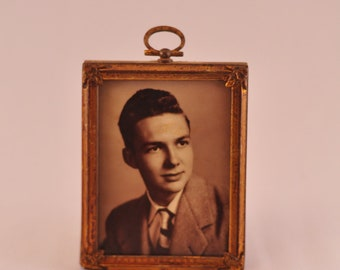 SALE! Photograph of Man in Vintage Frame