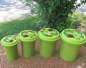 Mushroom Rubbermaid Avocado Lime Green Canisters
