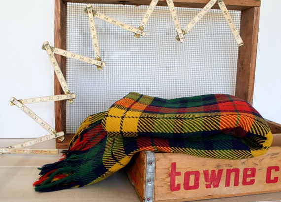 perfectly plaid wool camp blanket tartan stadium throw