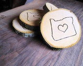 Custom State Coasters - Wood Engraved, Set Of Four