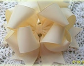 Ivory Hair Bow....Girls Hair Bow...Toddler Hair Bow...... Triple Layer Spikey Boutique Bow....with headband