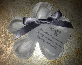 Jordan Almond Flower Personalized Wedding Favor - Italian Confetti, Bomboniere, Koufeta, Dragees