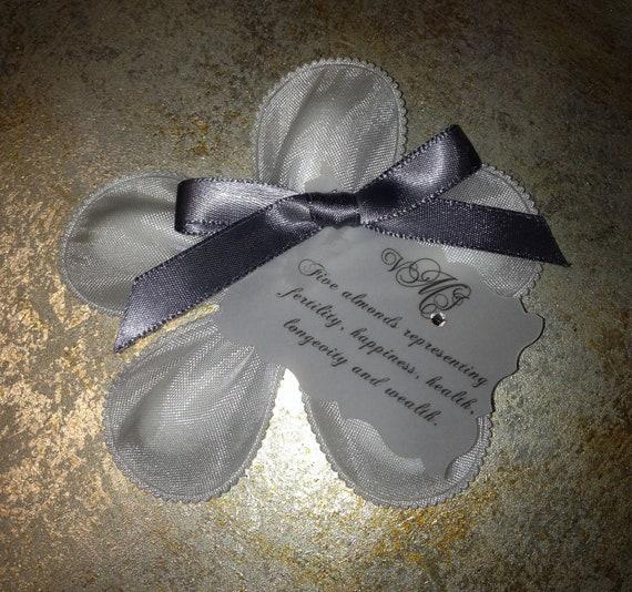 Jordan Almond Flower Personalized Wedding Favor - Italian Confetti, Bomboniere, Koufeta, Dragees