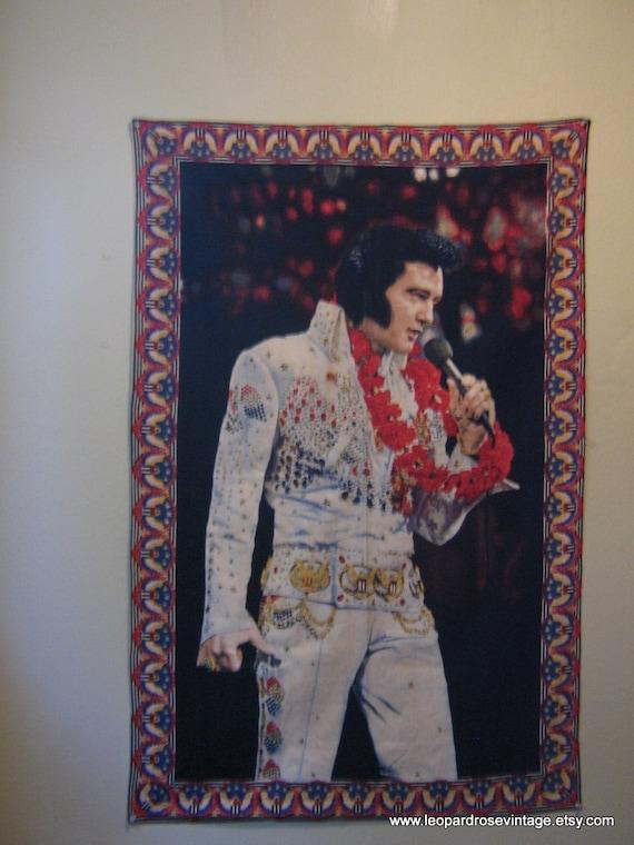 Vintage 1970 S Elvis Presley Wall Tapestry By