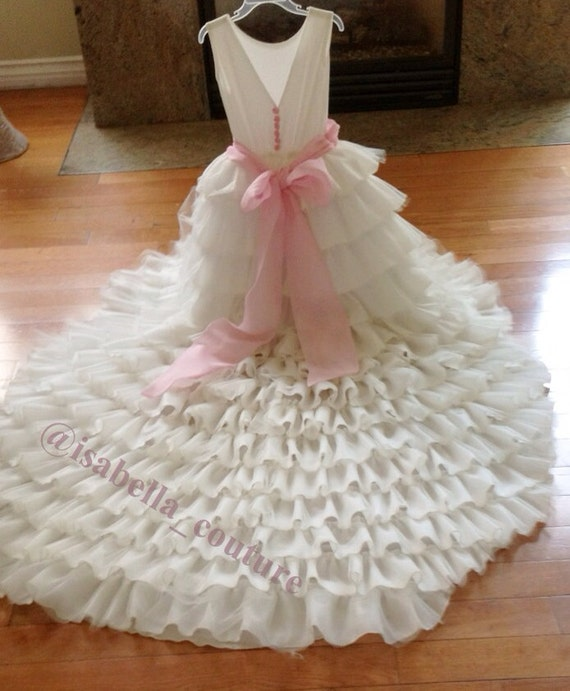 Flower Girl Dress Wedding Dress Bridal By IsabellaCoutureShop