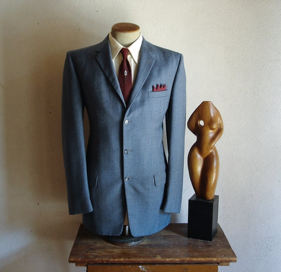light blue 1950s men's suit jacket