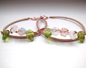 Pink flowers mother and daughter bracelet, mother daughter jewelry