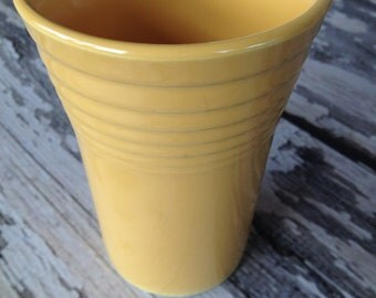 Original vintage yellow water tumbler fiestaware