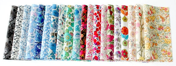 Liberty Fabric Charm Squares 5 inch Tana Lawn Fabric Pieces
