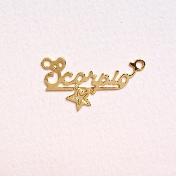 vintage golden scorpio charms