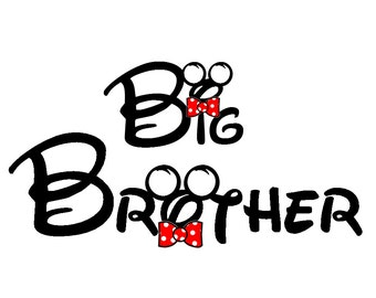 Disney Big Brother Iron on Transfer Decal(iron on transfer, not digital download)