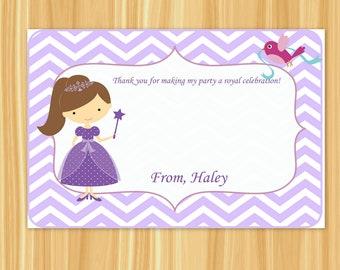 Custom Printable Purple Princess Thank You Card (Purple Party) - DIY PRINTABLE DESIGN