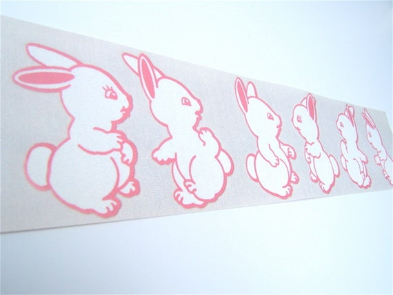 Velour appliques Iron on pink Bunny Appliques, patches - made by Timberline Design Simply Soft
