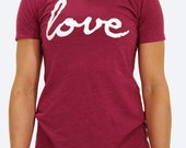 Love T-Shirt in Pink or Charcoal
