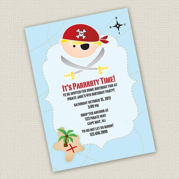 Articoli simili a invito di compleanno stampabili pirata - Pirata colorazione pirata stampabili ...