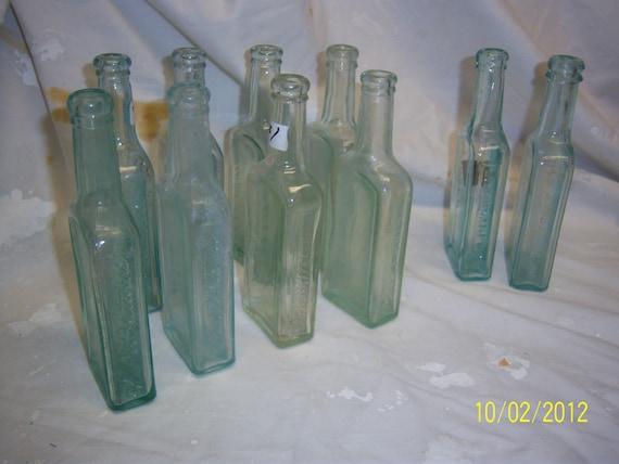 Lot 0f 10   - 8 Dr Fletchers and 2 Pitchers Castoria Aqua Medicine Bottles
