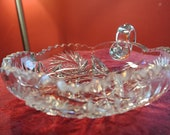 Dazzling Vintage Crystal Dish With Handle