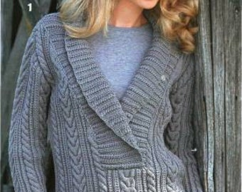 MADE TO ORDER warm winter women knitted blouse