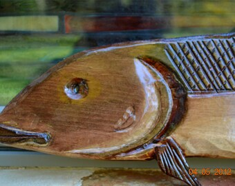 Hand Carved Bonefish Stained