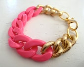 Hot Pink Chain Bracelet