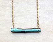 Teal Accent Dip Stick Necklace