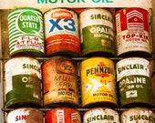 Fine Art Photo, Vintage Automotive Oil Cans