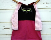 6-12 months pink with black cat  dress