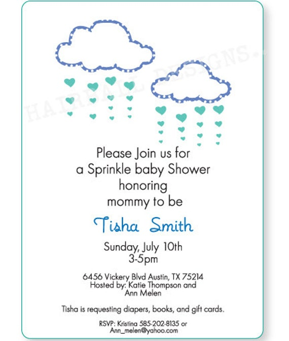 Baby Shower Invite Text as luxury invitation layout